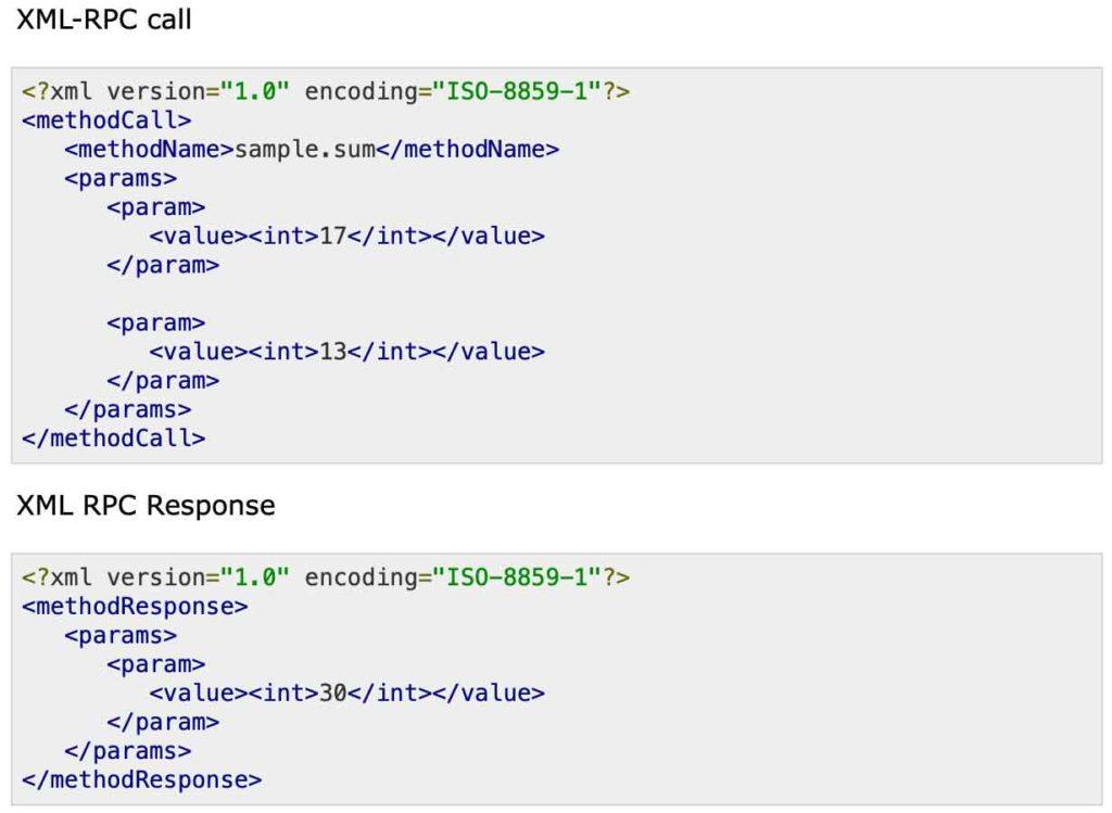 XML-RPC examples
