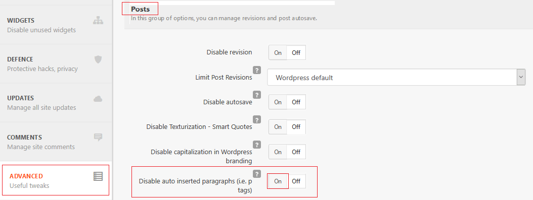Disable WordPress Tags